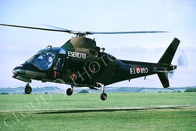 Agusta A 109 00002 A flying Agusta A 109 Italian Army helicopter 7-1982 helicopter picture by S W D Wolf