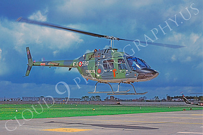 Agusta A 109 00004 A flying Agusta A 109 Italian Air Force helicopter picture 4-1989 by Achille Vigna
