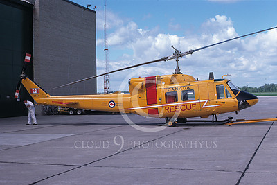 H-1Forg 00001 A towed Bell H-1 Iroquois Huey Canadian Armed Forces 8-1977 helicopter picture by Ray Bean
