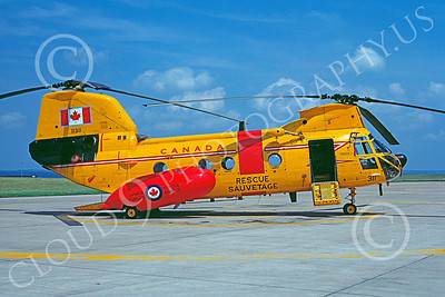 CH-46Forg 00007 A static Boeing CH-46 Sea Knight Canadian Armed Forces helicopter picture 7-1985 by Regemt Dansereau