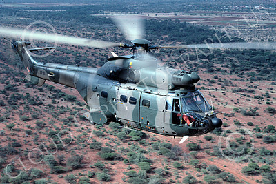 Super Puma 00012 A flying Eurocopter Super Puma South African Air Force 9-1995 helicopter picture by Carlos CunaHM 000308 SouthAfricanAF AASS 9-1995