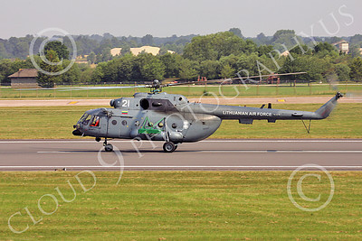 Mi-17 00001 A taxing Mil Mi-17 Hip Lithuanian Air Force helicopter picture by Paul Ridgway
