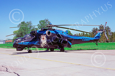 Mi-24 00017 A static colorful Mil Mi-24 Hind Czech Air Force helicopter picture by Al Thomas