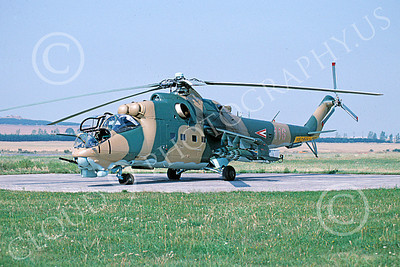 Mi-24 00015 A static Mil Mi-24 Hins Hungarian Air Force 5-2005 helicopter picture by Stan Baum