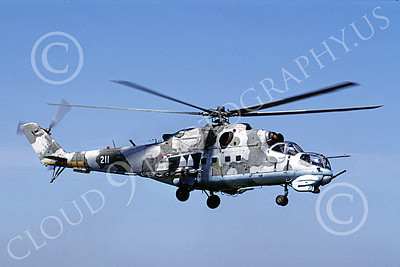 Mi-24 00004 A flying Mil Mi-24D Hind attack helicopter Polish Air Force 6-2003 by MarinusTabak
