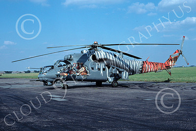 Mi-24 00001 A static colorful Mil Mi-24V Hind Czech Air Force helicopter picture 9-2004 by Wilfried Zetsche