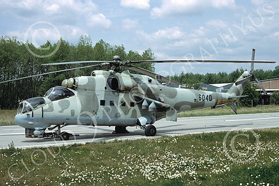 Mi-24 00005 A static Mil Mi-24D Hind attack helicopter Czech Air Force 6-1992 helicopter picture by H J van Broekhulzen
