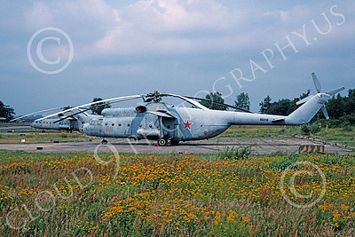 Mi-6 00005 A static Mil Mi-6 Hook Russian Air Force 9-1992 helicopter picture by Curt Padden