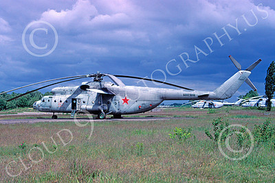 Mi-6 00001 A static Mil Mi-6 Hook Russian Air Force 6-1996 helicopter picture by Stan Kane