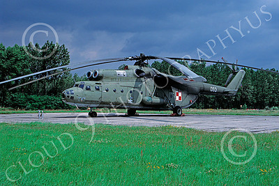 Mi-6 00003 A static Mil Mi-6 Hook Polish Air Force 9-1990 helicopter picture by Don Kirby