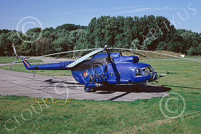 Mi-8 00007 A static blue Mil Mi-8 Hip East German Air Force 10-1990 helicopter picture by H J van Broekhuizen