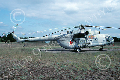 Mi-8 00003 A static Mil Mi-8 Hip Russian Air Force 4-1994 helicopter picture by Joseph Jackson