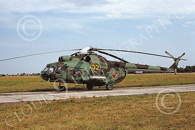 Mi-8 00009 A static Mil Mi-8 Hip Russian Air Force 9-1992 helicopter picture by H J van Broekhuizen