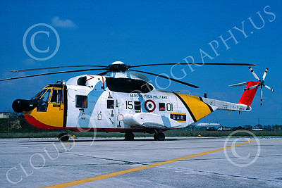 HH-3Forg 00001 A static Sikorsky HH-3 Pelican Italian Air Force 5-1991 helicopter picture by Henzo Sacchetti