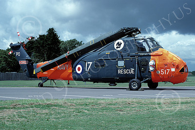 HSS-Forg 00005 A static Sikorsy HSS Seabat British Royal Navy 7-1985 helicopter picture by Wilfried Zetsche