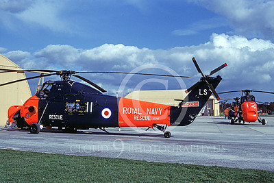HSS-Forg 00001 Two static Sikorsy HSS Seabats British Royal Navy 3-1982 helicopter picture by S W D Wolf