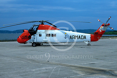 HSS-Forg 00003 A static Sikorsy HSS Seabat Uruguay Navy 4-1988 helicopter picture by Carlos Cuna