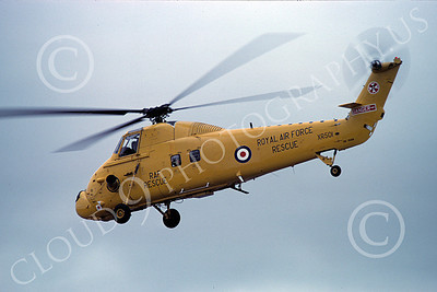 S-58Forg 00002 A flying Sikorsky S-58 British Royal Air Force helicopter picture 8-1981 by S W D Wolf