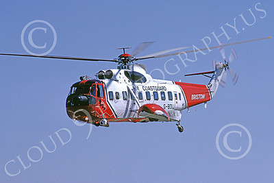 S-61Forg 00002 A flying Sikorsy S-61 British HM Coast Guard 7-1989 helicopter picture by S W D Wolf
