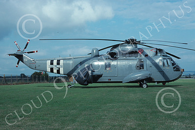 Westland Sea King 00025 A static Westland Sea King British Royal Navy helicopter picture 7-1989 by Wilfreid Zetsche