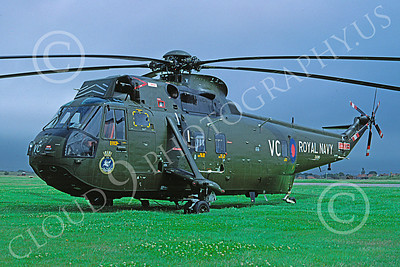 Westland Sea King 00015 A static Westland Sea King British Royal Navy helicopter picture 7-1990 by S W D Wolf