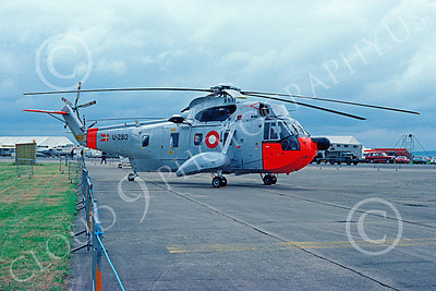 Westland Sea King 00013 A static Westland Sea King Danish Royal Air Force helicopter picture 7-1990 by Peter J Mancus