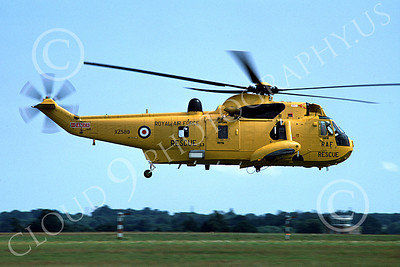 Westland Sea King 00010 A flying Westland Sea King British Royal Air Force helicopter picture 7-1978 by S W D Wolf