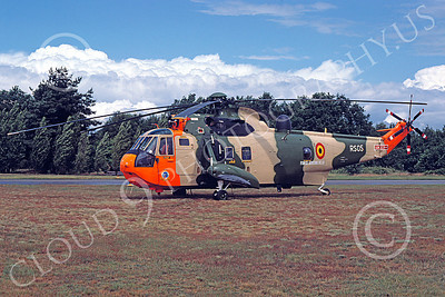 Westland Sea King 00007 A static Westland Sea King Belgium Air Force helicopter picture 7-1990 by Peter J Mancus