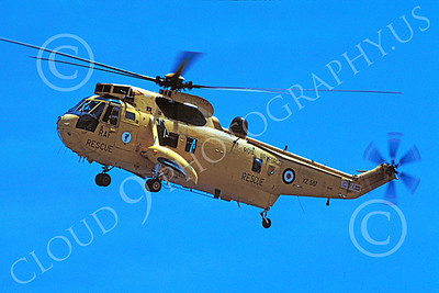 Westland Sea King 00020 A flying Westland Sea King British Royal Air Force helicopter picture 7-2002 by S W D Wolf