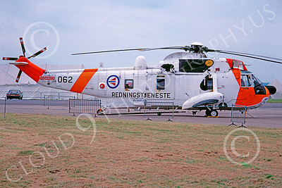 Westland Sea King 00017 A static Westland Sea King Norwegian Air Force helicopter picture 7-1981 by Ken Hill