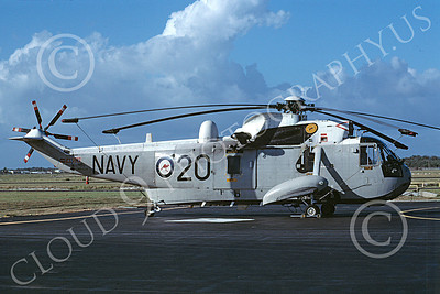 Westland Sea King 00009 A static Westland Sea King Royal Austrailian Air Force helicopter picture 4-1989 by Bill Grady