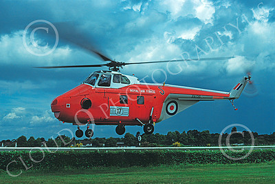 Westland Whirland 00002 A flying Westland Whirland British Royal Air Force helicopter picture 6-1980 by S W D Wolf