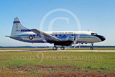 C-131ANG 00003 Convair C-131 Samaritan Montana Air National Guard 42823 Tyndall AFB by Carl E Porter