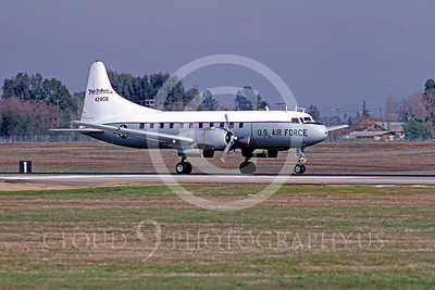 C-131ANG 00007 Convair C-131 Samaritan Nevada Air National Guard 42806 High Rollers February 1985 McClellan AFB by Peter B Lewis