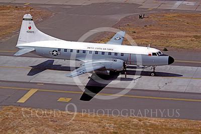 C-131ANG 00009 Convair C-131 Samaritan Washington Air National Guard 42820 December 1981 McClellan AFB by Peter B Lewis
