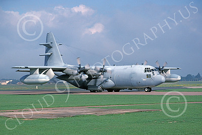 EC-130EANG 00001 A taxing Lockheed EC-130E Hercules Pennsylvania ANG 9-1996 military airplane picture by Bill Cox