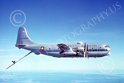 KC-97ANG 00014 A flying Boeing KC-97L Stratotanker Arizona ANG 30244 10-1975 military airplane picture by Archie Hayes