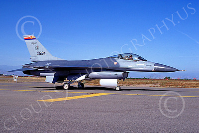 F-16ANG 00033 Lockheed Martin F-16 Fighting Falcon Arizona Air National Guard 80524 Fresno May 1989 by Peter J Mancus
