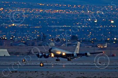 KC-135ANG 00054 Boeing KC-135 Stratotanker Nebraska Air National Guard at night by Peter J Mancus