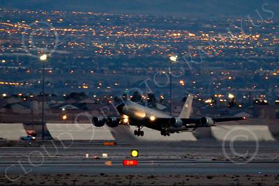 KC-135ANG 00066 Boeing KC-135 Stratotanker Nebraska Air National Guard at night by Peter J Mancus