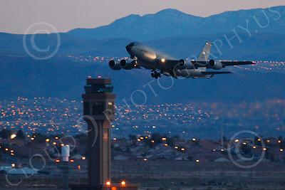 KC-135ANG 00038 Boeing KC-135 Stratotanker Nebraska Air National Guard at night by Peter J Mancus