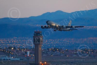 KC-135ANG 00080 Boeing KC-135 Stratotanker Nebraska Air National Guard at night by Peter J Mancus