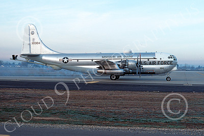 KC-97ANG 00013 A taxing Boeing KC-97L Stratotanker Missouri ANG 30304 McClellan AFB 4-1976 military airplane picture by Michael Grove, Sr