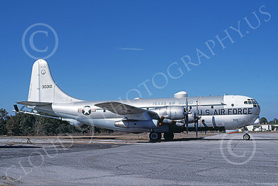 KC-97ANG 00031 A static Boeing KC-97L Stratotanker Texas ANG 30310 2-1981 military airplane picture by Douglas Slowiak