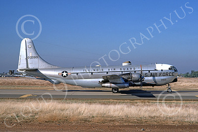 KC-97ANG 00019 A taxing Boeing KC-97L Stratotanker Illinois ANG 20901 McClellan AFB 7-1974 military airplane picture by Michael Grove, Sr