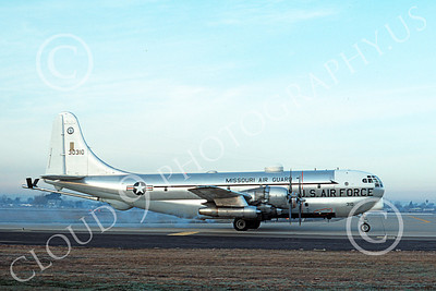 KC-97ANG 00021 A taxing Boeing KC-97L Stratotanker Missouri ANG 30310 McClellan AFB 4-1976 military airplane picture by Michael Grove, Sr