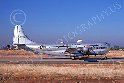 KC-97ANG 00023 A taxing Boeing KC-97L Stratotanker Utah ANG 30218 McClellan AFB 11-1974 military airplane picture by Michael Grove, Sr