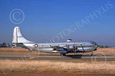 KC-97ANG 00027 A taxing Boeing KC-97L Stratotanker Wisconsin ANG 7-1974 military airplane picture by Michael Grove, Sr
