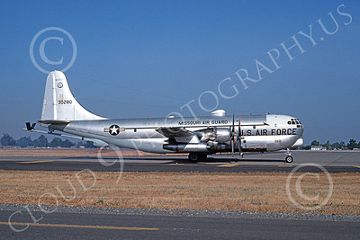 KC-97ANG 00015 A taxing Boeing KC-97L Stratotanker Missouri ANG 30280 McClellan AFB 7-1976, by Michale Grove, Sr