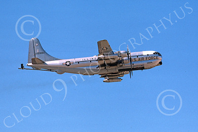 KC-97ANG 00018 A flying Boeing KC-97L Stratotanker Illinois ANG 20884 7-1974 military airplane picture by Michale Grove, Sr